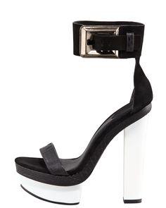 B Brian Atwood Ankle-Cuff Platform Sandal - Bergdorf Goodman