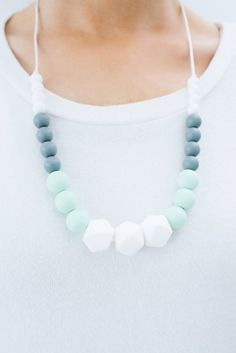 Amazing 2in1 Teething Necklace Very Fashionable For Moms And Great Teether Their Little Ones Baby Pinterest