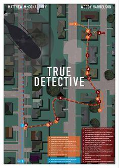 True Detective by Daniel Keane Increíble mapa de la secuencia final del tercer episodio!1