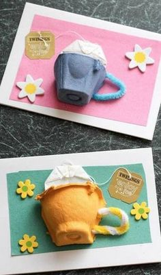 10 Mothers Day Cards Dad Can Make With Children - Mothers& Mouths . - 10 Mothers Day Cards Dad Can Make With Children – Mothers& Mouths … # - Kids Crafts, Mothers Day Crafts For Kids, Fathers Day Crafts, Yarn Crafts, Fathers Day Ideas, Mothers Day Cards Craft, Diy Father's Day Cards, Diy Mother's Day Crafts, Spring Crafts