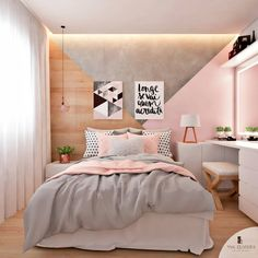 Luxury Small Bedroom Design And designing For Comfortable Sleep some ideas Bedroom Suitedesign Roomdecoratingideas Cute Bedroom Ideas, Cute Room Decor, Teen Room Decor, Girl Bedroom Designs, Room Ideas Bedroom, Small Room Bedroom, Home Decor Bedroom, Modern Bedroom, Master Bedroom