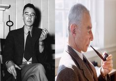 """Robert Oppenheimer ~ Born Julius Robert Oppenheimer April 22, 1904 in New York City, US. DiedFebruary 18, 1967 (aged 62) in Princeton, New Jersey.US.  American theoretical physicist and professor of physics at the University of California, Berkeley. He is among the persons who are often called the """"father of the atomic bomb"""" for their role in the Manhattan Project, the World War II project that developed the first nuclear weapons."""