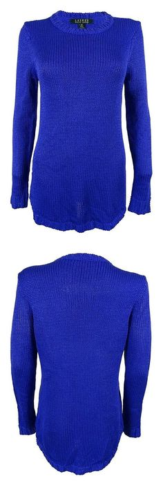 $17.63 - Ralph Lauren Womens Knit Jewel Pullover Sweater Andover Blue #ralphlauren