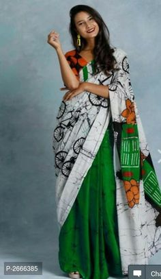 Price Free COD and Shipping with Easy Return Myhra Pretty Mulmul Cotton Saree Fabric: Saree - Mulmul Cotton, Blouse - Mulmul Cotton Size: Saree Length - Mtr , Blouse Length - Mtr Work: Batik Printed Dispatch: 4 - 5 Days Cotton Saree Designs, Blouse Designs, Block Print Saree, Online Shopping Sarees, Green Saree, Saree Dress, Sari, Saree Blouse, Elegant Saree