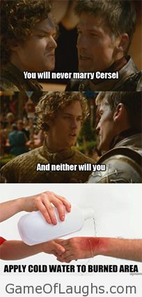 Loras Tyrell just owned Jaime Game Of Thrones Memes
