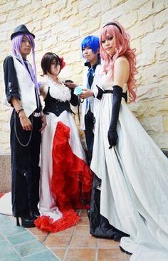 Vocaloid group Cosplay (R-L: Luka, Kaito, Meiko, Gakupo)