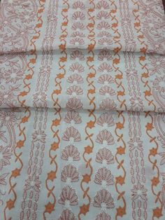 Exclusive Lucknow Chikan White & Rust Cotton Suit Length with fine chikankari murri, shadow & applique work, contrast bottom & pure chiffon dupatta #chikankari $57.50