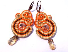 Soutache Jewelry, Washer Necklace, Drop Earrings, Handmade, Drop Earring, Hand Made, Dangle Earrings, Handarbeit