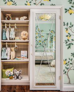 beautiful nursery by dina bandman interiors with lemons and yellow and green