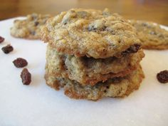 Chewy Oatmeal Raisin cookies recipe...the most soft and chewy oatmeal cookies ever...quick and easy to make...you probably already have all the ingredients.