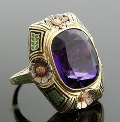 Antique amethyst ring.