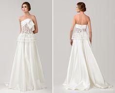Strapless Dress. White.