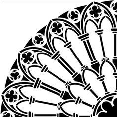 Quadrant stencil from The Stencil Library GOTHIC, MEDIEVAL AND TUDOR range. Buy stencils online. Stencil code GMT68.