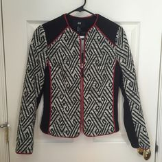 H&M jacket size 2 NWT Funky jacket from H&M. Awesome fit and detailing. H&M Jackets & Coats Blazers