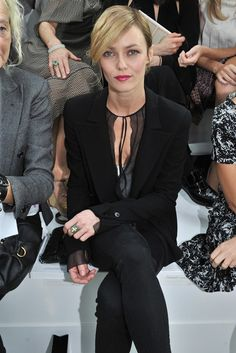 Vanessa Paradis Front Row at Chanel  [Photo by Stéphane Feugère]