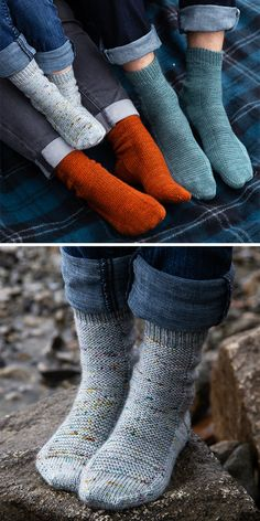 """Free Knitting Pattern for Easy """"Learn to Knit"""" Rye Light Socks – Socks for the whole family with step by step pattern and tutorials aimed at beginning sock knitters. Sizes Baby (Toddler, Child, Adult S, M, L). Rated easy by… Continue Reading → Knitted Socks Free Pattern, Knitting Socks, Knit Patterns, Free Knitting, Knitted Baby Socks, How To Knit Socks, Toddler Knitting Patterns Free, Easy Crochet Socks, Finger Knitting"""