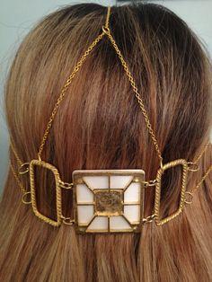 art deco hair jewelry