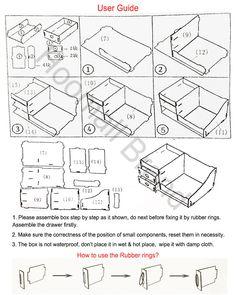 Hoomall cajas de madera organizador de maquillaje cajas organizadoras Hecho a mano Almacenamiento de oficinas en Bastidores y Soportes de Hogar y Jardín en AliExpress.com   Alibaba Group Cardboard Organizer, Cardboard Storage, Cardboard Crafts, Diy Storage Drawers, Craft Storage, Diy Home Crafts, Diy Arts And Crafts, Diy Box, Diy Makeup