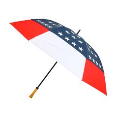 $42 Red White & Blue Stars Tornado Wind Resistant #Umbrella