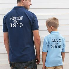 Personalised 'Established' Polo Shirts  | notonthehighstreet.com