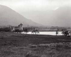 """Kilchurn Castle In Rain"" Limited Edition Original fine art photograph from a large B&W negative."