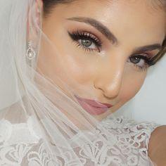 Heidi Hamoud: wedding makeup EYES// @colourpopcosmetics Eyeshadows 'amaze' & 'birthday girl', @maccosmetics 'saddle' @urbandecaycosmetics cosmic eyeshadow, @makeupgeekcosmetics 'peach smoothie & Cocoa bear', MAC 'black track' gel liner' @houseoflashes 'noir fairy' LIPS// @gerardcosmetics x @mannymua733 hydra matte 'serenity', @maccosmetics lip liner 'soar'