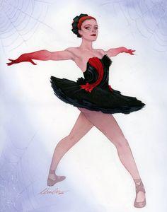 Natasha Romanoff | Rodarte Black Widow ballerina WonderCon 2015 commission •Kevin Wada