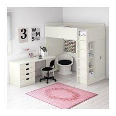 STUVA Hochbettkomb. 4 Schubl./2 Türen, weiß - 207x99x193 cm - IKEA
