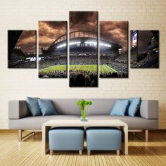 Large Framed Seattle Seahawks 12th Man Canvas