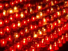 Each candle represents a prayer for someone.