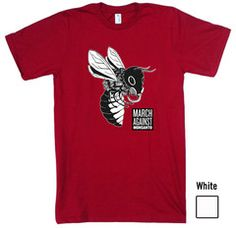 """Bee with Gasmask"" Unisex Organic Cotton T-shirt 