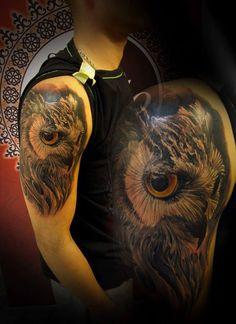 #owl #owltattoo #ink #inked #studio #bardo #studiobardo #tattoo #tattooartist #realistic #color #realisticcolor #animal #bird