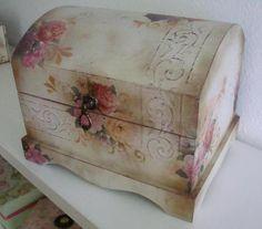 Atelier Mercedes Durán Mayo, Mixed Media Art, Stencils, Bottles, Decorative Boxes, Scrap, Container, Vintage, Home Decor