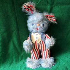 Antique 1950s Knickerbocker Toys Bunny Kuddles Patriotic Teddy Bear Independence…