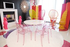 Travel Shack: THE REAL BARBIE MALIBU DREAM HOUSE with pink Louis Ghost chairs