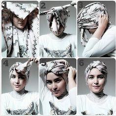 HIJAB TUTORIAL -- @hijablogger (Ms. Hijablogger) 's Instagram photos