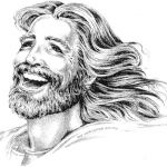 I love this picture!  I need to think of Jesus laughing more.