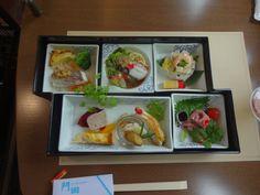 "Food served in ""Iyonada Monogatari"" train."