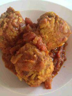 Boulettes de bœuf, riz et sauce tomate 2 SP/boulette