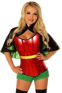 1124cd7f63 Daisy Corsets Women s Plus-Size Top Drawer Plus Size Superhero Sidekick Corset  Costume