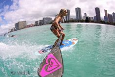 SUP Stand up paddle Girl Vanina at Waikiki  living the surfer girl Lifestyle http://www.vaninawalsh.com/