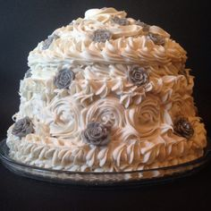 This is my handmade soapy wedding cake that I made for friends to cut up and give as wedding favours to guests.