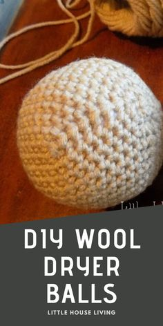 Dryer balls are a great way to save money and cut back on chemicals in your home, learn how to make the best wool dryer balls with this free crochet pattern. Crochet Wool, Free Crochet, Minimalist Living Tips, Diy Laundry Detergent, Earth Mama, Wool Dryer Balls, Amazing Crafts, Single Crochet Stitch, Simple Crafts