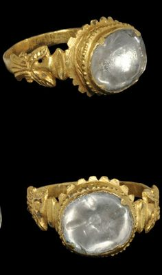 Probably a ring Nevhanni has at some point in his life. Not sure whether the overall style is specific to Hyennan though. #GoldJewellery16ThCentury