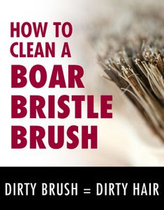 You will not believe the difference it makes keeping your hair brush clean. My hair looks great and cleaning a boar bristle hair brush is easy! Who knew you could dry clean your hair brush in 60 seconds? LOVE IT!