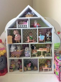 My daughters creation with the $9 Kmart shadow house (box) #kmarthack