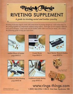 A great overview of different methods of riveting (and using eyelets) with the proper supplies and tools.