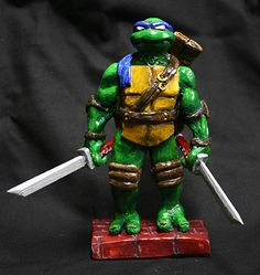 A Teenage Mutant Ninja Turtles Leonardo ceramic work of art.  (credit to www.facebook.com/geekstuffgaragesale)