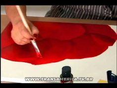 Tv Transamérica - Técnica: Pintura em tela com Acrylic Colors Acrilex - Parte2 - YouTube