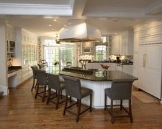 Kitchen Photos Island Design, Pictures, Remodel, Decor and Ideas - page 4 Stools For Kitchen Island, Large Kitchen Island, Kitchen Islands, Kitchen Island With Seating For 6, Narrow Kitchen, Kitchen Cabinets, New Kitchen, Kitchen Decor, Kitchen Ideas